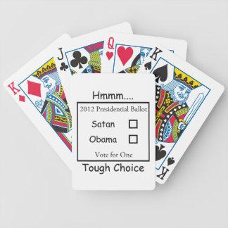 Hmmm Tough Choice Satan vs. Obama 2012 Bicycle Playing Cards