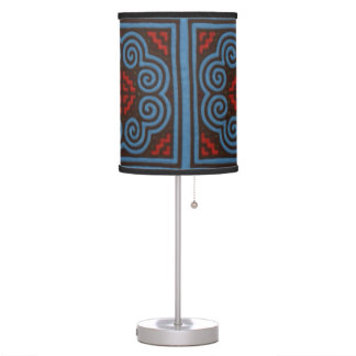 Hmong Floral Pattern Artwork Table Lamp