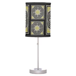 Hmong Mandala Pattern Artwork Table Lamp