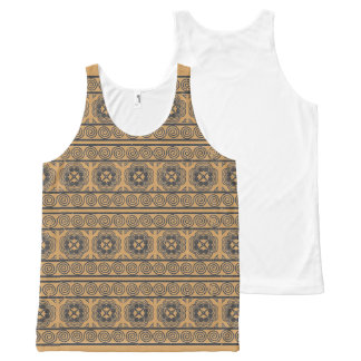 Hmong Motif Gray Print All-Over-Print Tank Top
