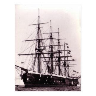 HMS Agincourt 1865 Postcard