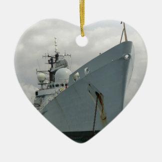 HMS Edinburgh Ceramic Heart Ornament