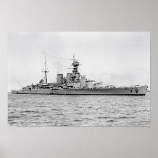 "HMS Hood poster 16.5"" x 11"""