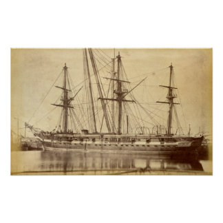 HMS Scylla - 19th Century Royal Navy Warship Poster