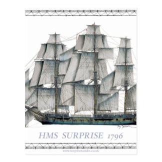 HMS Surprise 1796 Postcard