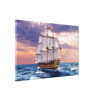 HMS Victory Flagship Painting Canvas Print