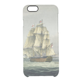 HMS Victory sailing for the French line flanked by Clear iPhone 6/6S Case