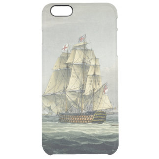 HMS Victory sailing for the French line flanked by Clear iPhone 6 Plus Case