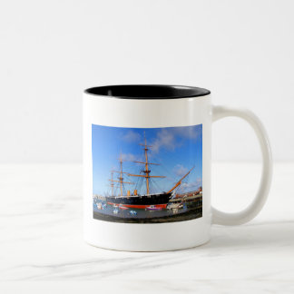 HMS Warrior Two-Tone Coffee Mug