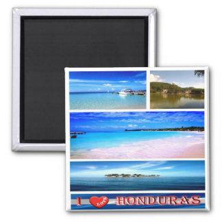 HN - Honduras -  I Love - Collage Magnet