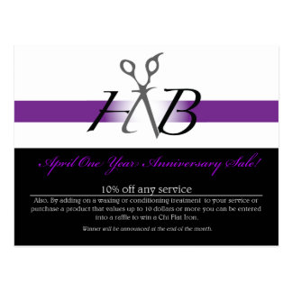 HNB Heather Bartell Salon Postcards