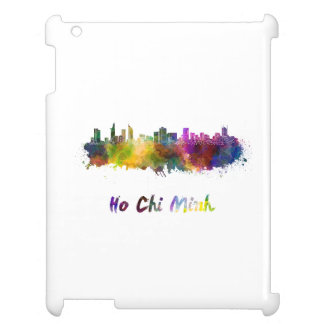 Ho Chi Minh skyline in watercolor iPad Cases