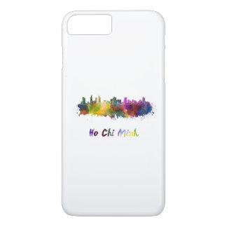Ho Chi Minh skyline in watercolor iPhone 7 Plus Case
