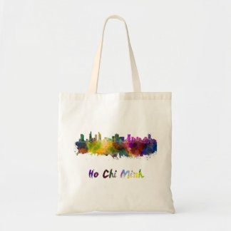 Ho Chi Minh skyline in watercolor Tote Bag