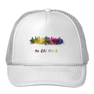 Ho Chi Minh skyline in watercolor Trucker Hat