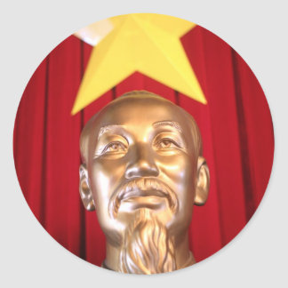 Ho Chi Minh Vietnamese leader Classic Round Sticker