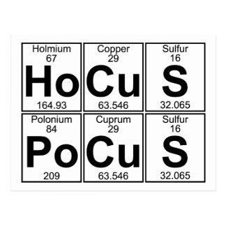 Ho-Cu-S Po-Cu-S (hocus pocus) - Full Postcard