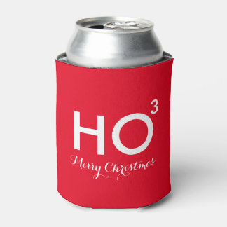Ho Cubed Funny Christmas Can Cooler