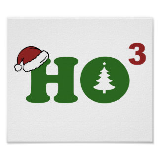Ho Cubed Merry Christmas Poster