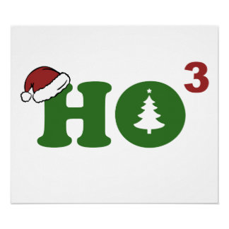 Ho Cubed Merry Christmas Print