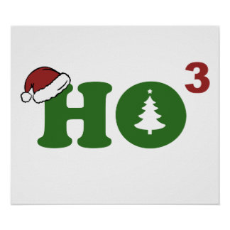 Ho Cubed Merry Christmas Posters