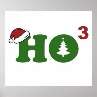 Ho Cubed Merry Christmas Print