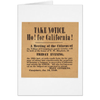 Ho! for California! 1849 (1759A) Card