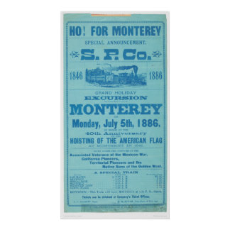 Ho for Monterey So. Pacific Advertisement (1652A) Poster
