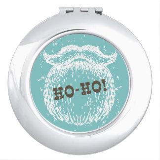 Ho-Ho Christmas Holiday Santa Noel Compact Mirror