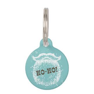 Ho-Ho Christmas Holiday Santa Noel Pet ID Tag