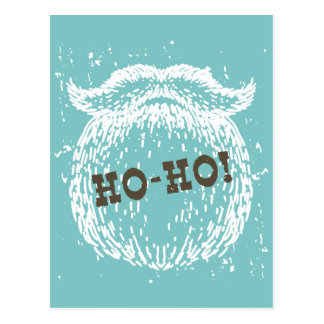 Ho-Ho Christmas Holiday Santa Noel Postcard