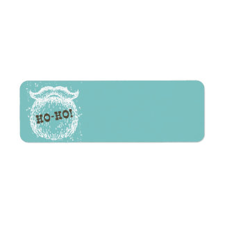 Ho-Ho Christmas Holiday Santa Noel Return Address Label