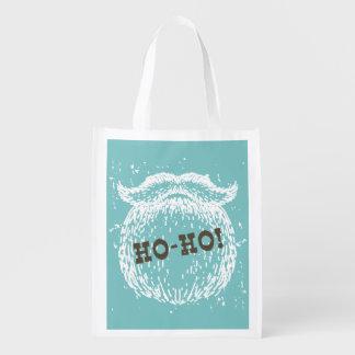 Ho-Ho Christmas Holiday Santa Noel Reusable Grocery Bag