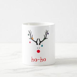 Ho ho funny cute minimalist Santa's reindeer Coffee Mug