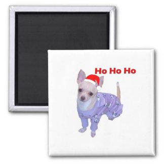 Ho Ho Ho (Chihuahua) Square Magnet