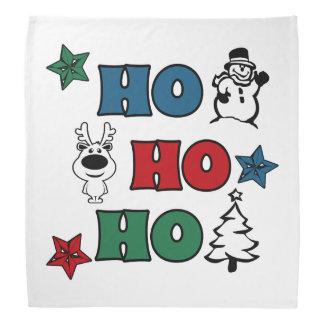 Ho-Ho-Ho Christmas design Bandana