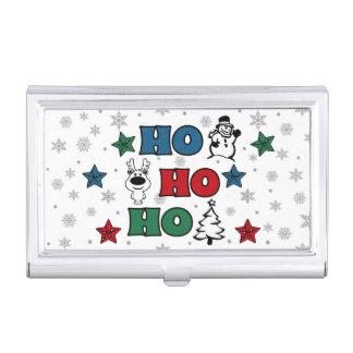 Ho-Ho-Ho Christmas design Business Card Holder