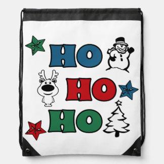 Ho-Ho-Ho Christmas design Drawstring Bag
