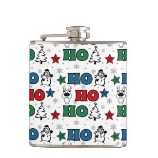 Ho-Ho-Ho Christmas design Hip Flask