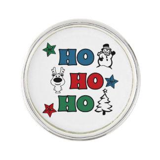 Ho-Ho-Ho Christmas design Lapel Pin