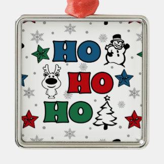 Ho-Ho-Ho Christmas design Metal Ornament