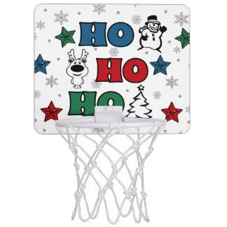 Ho-Ho-Ho Christmas design Mini Basketball Hoop