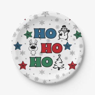 Ho-Ho-Ho Christmas design Paper Plate