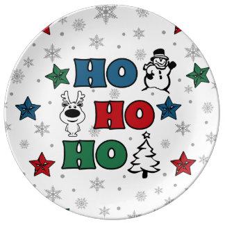 Ho-Ho-Ho Christmas design Plate
