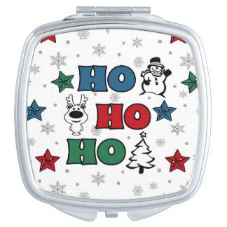 Ho-Ho-Ho Christmas design Travel Mirror