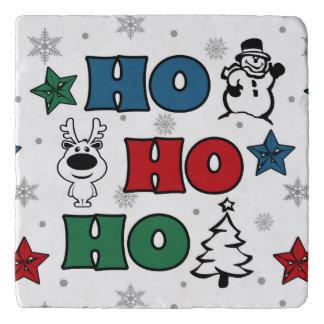 Ho-Ho-Ho Christmas design Trivet