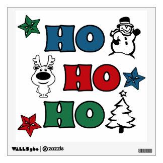 Ho-Ho-Ho Christmas design Wall Sticker