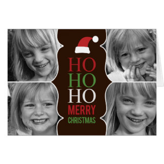 HO HO HO Christmas/Holiday Photo Card