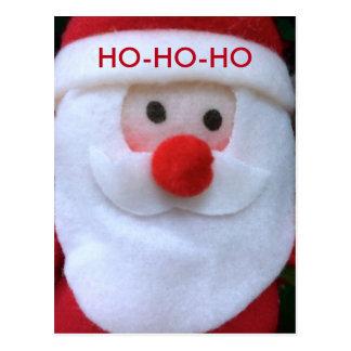 Ho-Ho-Ho - Christmas, Santa, Holiday Postcard