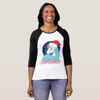 Ho Ho Ho Christmas Unicorn T-Shirt